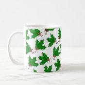 Christmas Holly Mug mug