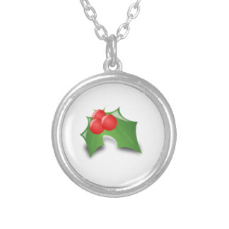 Christmas Holly Personalized Necklace