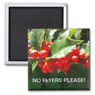 Christmas Holly No Flyers Please Dishwasher Magnet