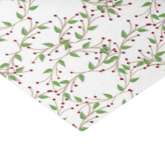 Christmas Holly pattern Holiday tissue paper