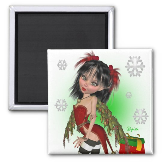 Christmas Holly Pixi Magnet