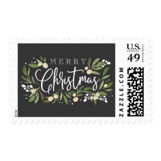 Christmas Holly - Postage Stamp