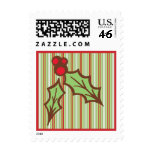 Christmas Holly Postage Stamps
