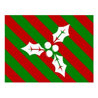 Christmas Holly Postcard