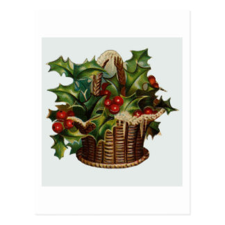 Christmas Holly Post Cards