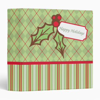 Christmas Holly Scrapbook Binder