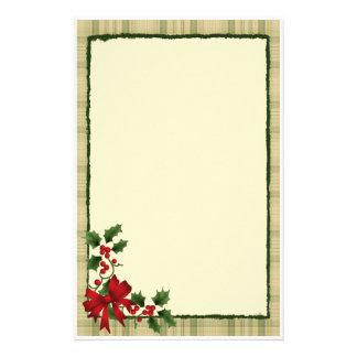 Christmas Holly Stationery