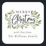 "Christmas Holly Sticker Tag<br><div class=""desc"">Christmas Holly,  Sticker tag. Customizable. Part of a collection</div>"