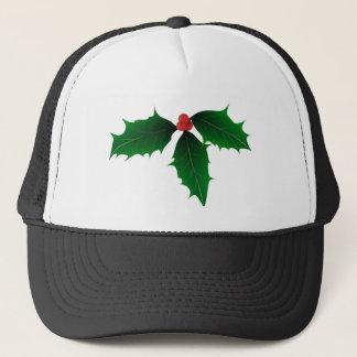 Christmas Holly Trucker Hat