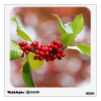 Christmas Holly Wall Sticker
