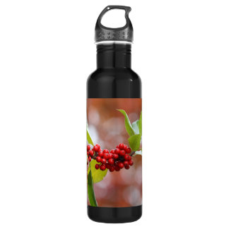 Christmas Holly Water Bottle