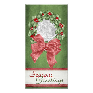 Christmas Holly Wreath Card