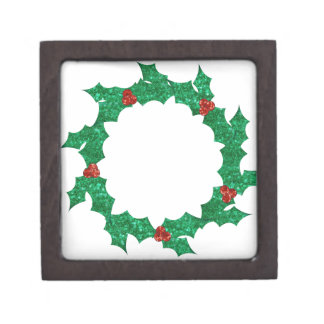 christmas holly wreath premium jewelry boxes