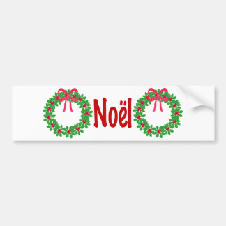Christmas Holly Wreath T-Shirts, Cards, Gifts Car Bumper Sticker