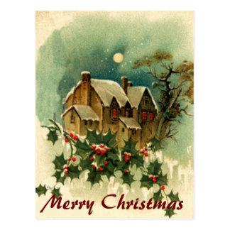 Christmas Home Postcard