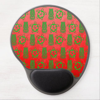 Christmas Honu And Tiki Gel Mouse Pad
