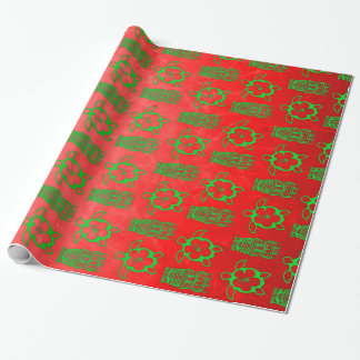 Christmas Honu And Tiki Wrapping Paper