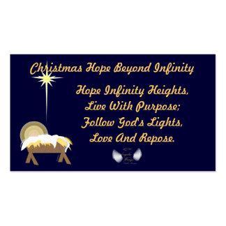Christmas Hope Beyond Infinity-Customize Business Card Templates
