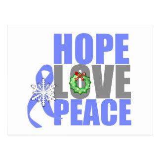 Christmas Hope Love Peace Esophageal Cancer Postcard