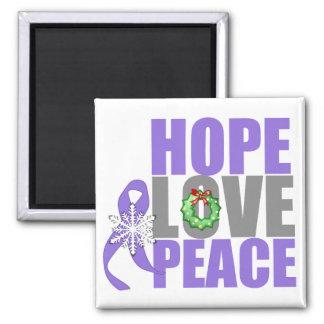 Christmas Hope Love Peace Hodgkins Lymphoma Fridge Magnets