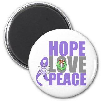 Christmas Hope Love Peace Hodgkins Lymphoma Magnet