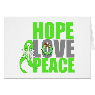 Christmas Hope Love Peace Non-Hodgkins Lymphoma Card