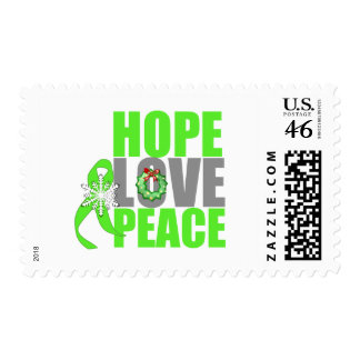 Christmas Hope Love Peace Non-Hodgkins Lymphoma Postage Stamps