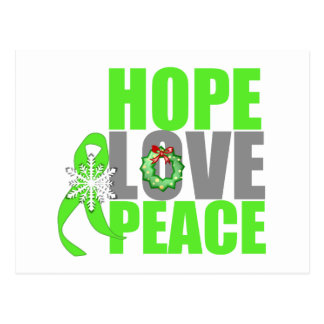 Christmas Hope Love Peace Non-Hodgkins Lymphoma Post Card