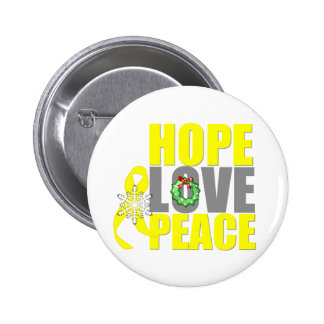 Christmas Hope Love Peace Testicular Cancer 2 Inch Round Button