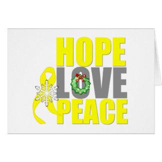 Christmas Hope Love Peace Testicular Cancer Greeting Card
