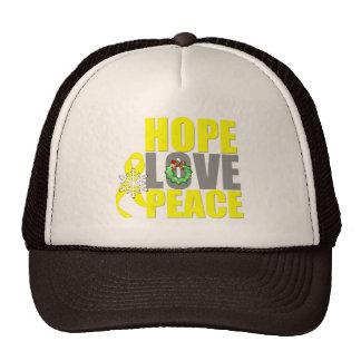 Christmas Hope Love Peace Testicular Cancer Trucker Hat