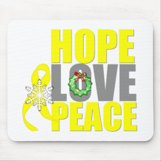 Christmas Hope Love Peace Testicular Cancer Mouse Pad