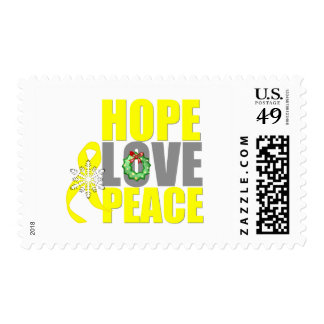 Christmas Hope Love Peace Testicular Cancer Stamps