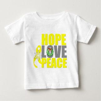 Christmas Hope Love Peace Testicular Cancer Tees