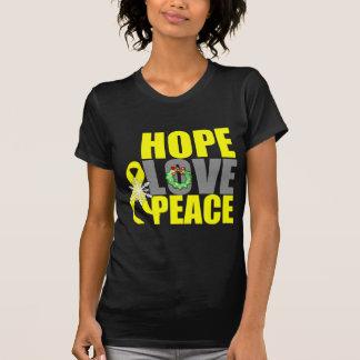 Christmas Hope Love Peace Testicular Cancer Tee Shirts