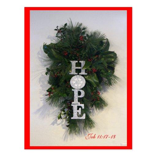 Christmas Hope Postcard- customize Postcard
