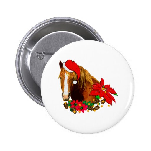 Christmas Horse 2 Inch Round Button