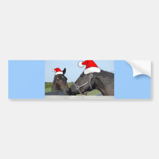 Christmas Horse and Poney Bumper Sticker