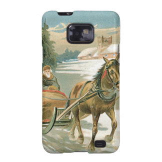 Christmas Horse and Sleigh Samsung Galaxy S2 Case