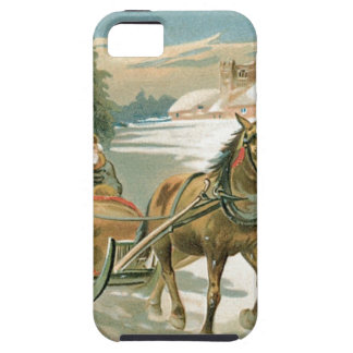 Christmas Horse and Sleigh iPhone SE/5/5s Case