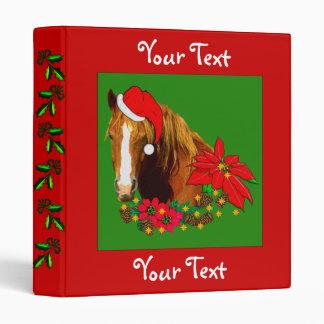 Christmas Horse Binder