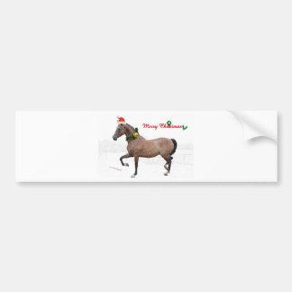 Christmas Horse Bumper Sticker