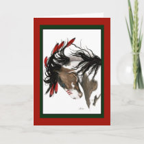 Christmas Horse Card by Bihrle