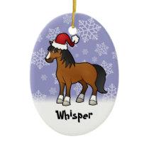 Christmas Horse Ceramic Ornament