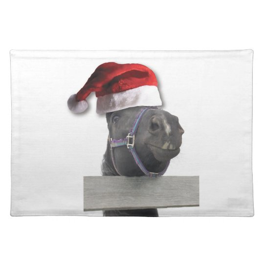 Christmas Horse Cloth Placemat