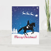 Christmas Horse Dressage Winter Card