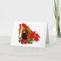 Christmas Horse Holiday Card