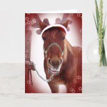 Christmas Horse Holiday Card