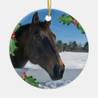 Christmas Horse Holiday Ornament