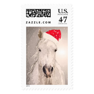 Christmas Horse Holiday Postage